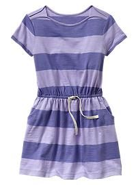 Stripe short-sleeve T-shirt dress