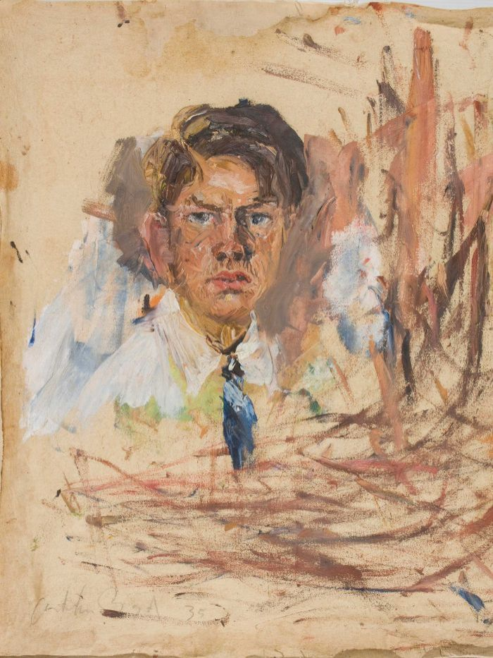 #SelfPortrait by Arthur Boyd 1935 Arthur Boyd  Bundanon Trust Collection.  Supplied: Museum of Australian Democracy