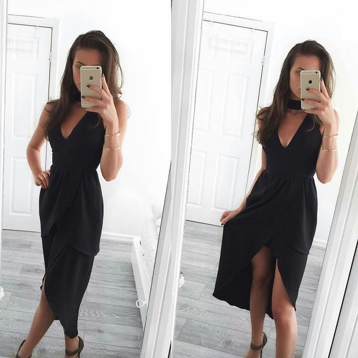 So gorgeous!!  Maggie Petrova spotted wearing our 'Sini Tulip Dress in Black' | Scandinavian Style | #maggiepetrova #london