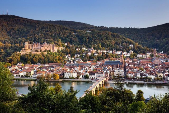 Germany's Castle Road offers a scenic drive along 70 castles. Visit the ruins in Heidelberg, walled city of Rothenburg ob der Tauber and stay in a castle in Colmberg.