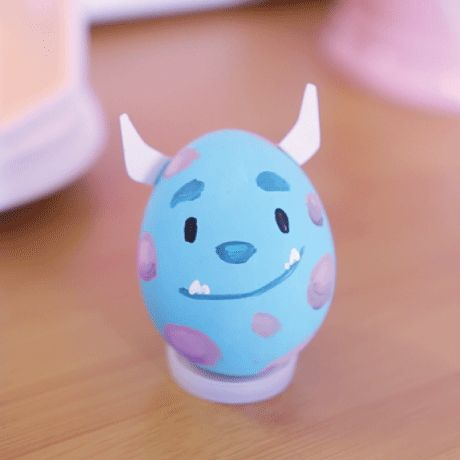 Sulley Painted Egg