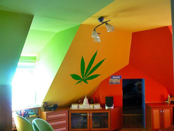 ztdsa's save of Weed Sticker 420 Cannabis Pot Decal Hippy Stoner Trippy Decal Set wall art Wall Decal Sticker Bedroom Sticker Wall Art Gift Decoration 3 x 3 on Wanelo