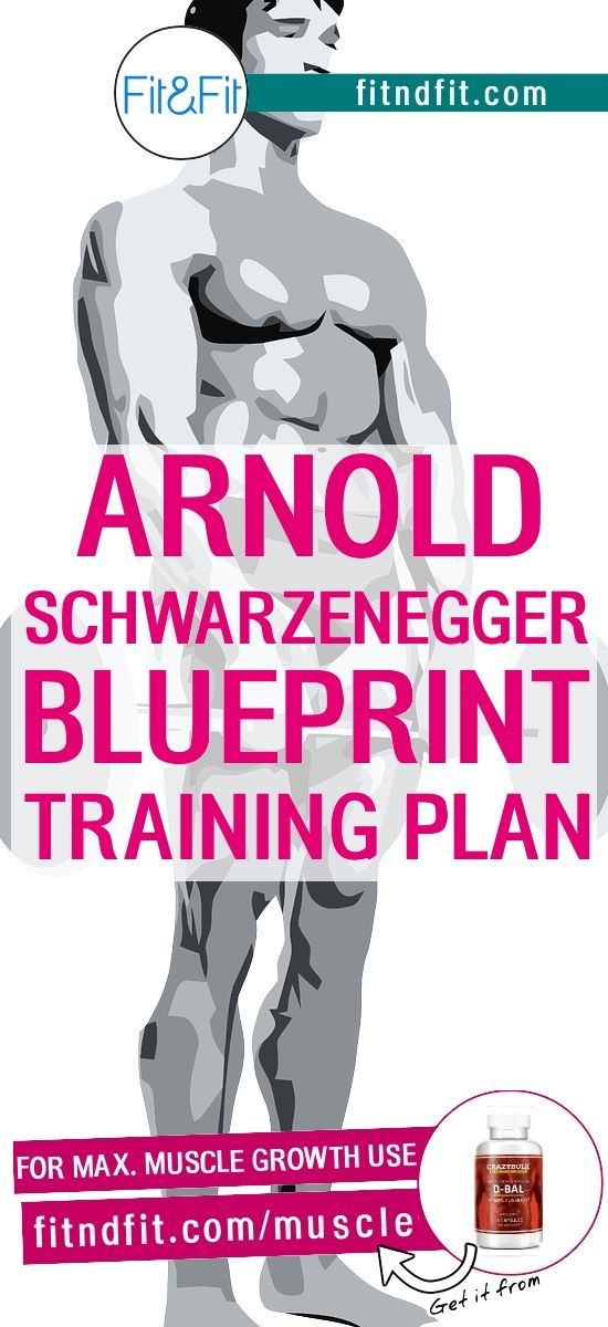 Arnold Schwarzenegger's Blueprint Training Plan! #fitness #bodybuilding #workout #gym #weightloss #fatloss #loseweightfast #love #new #pinterest #london #newyork #uk