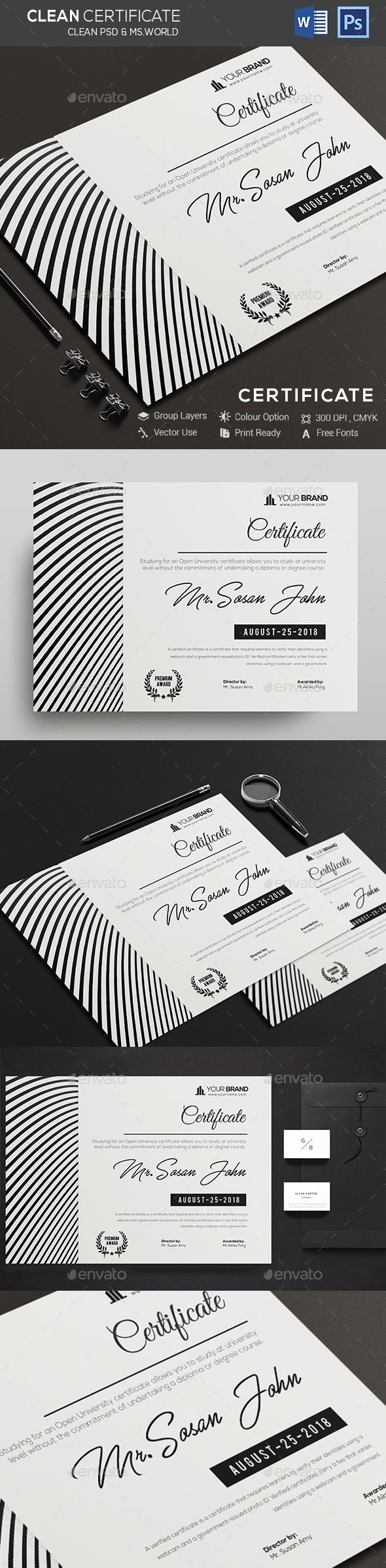 Certificate #print certificate #certificate  • Download here → https://graphicriver.net/item/certificate/20486356?ref=pxcr