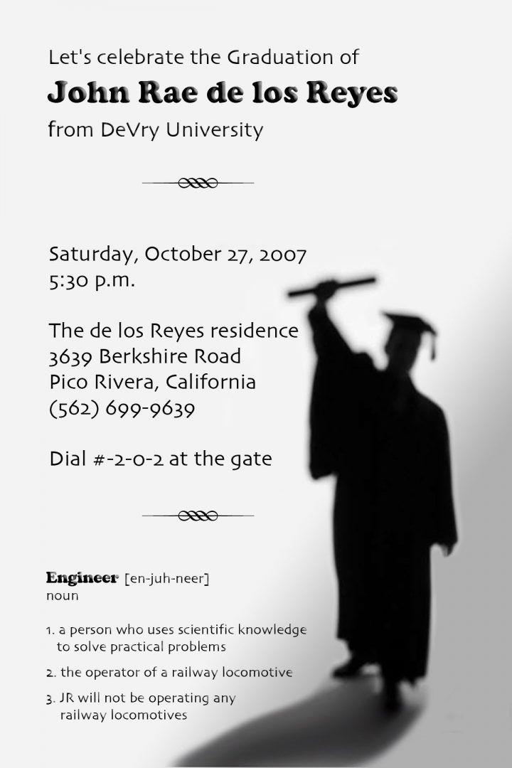 Templates Funny Graduation Party Invitation Templates Graduation Party Invitation Template