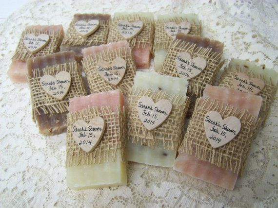 From my shower to yours - pink and brown soaps, 30 bridal shower favors soaps - mini soaps -  Shea butter, organic,  handmade soap - rustic