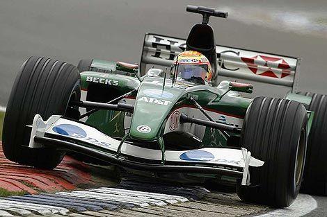 Patrick Friesacher Jaguar-Cosworth, Silverstone, 2003