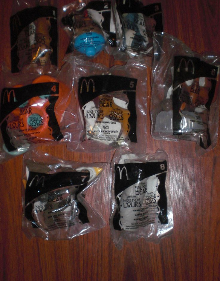 2003 McDONALD'S KIDS TOYS - BROTHER BEAR - COMPLETE SET OF 8 -NIP - LOW PRICE!