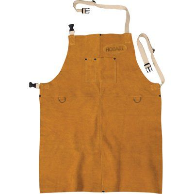 Hobart Welding Apron — Leather, Brown, One Size Fits Most, Model# 770548