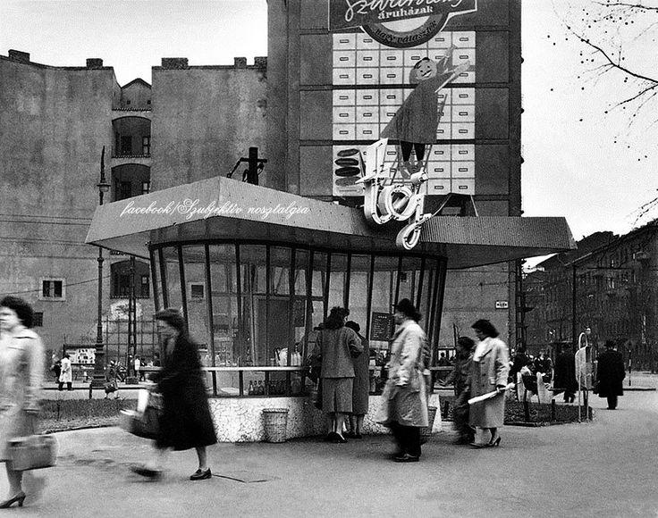 Tejivó a Marx téren (Nyugati tér most), 1959.