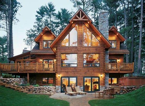 Perfect Log Cabin Home Design Decor