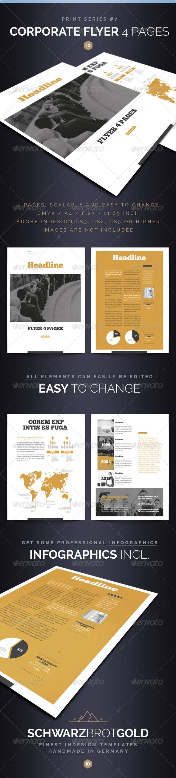Corporate Flyer 4 Pages Series 7