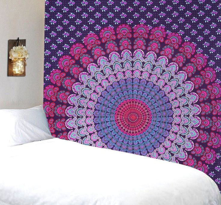 Jazz Purple Pink Mandala Bohemian Fabric Tapestry About: Mesmerizing tapestry crafted in cotton fabric. Instantly adds a unique touch of boho charm to any livin