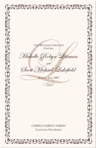 Top  Best Examples Of Wedding Programs Ideas On