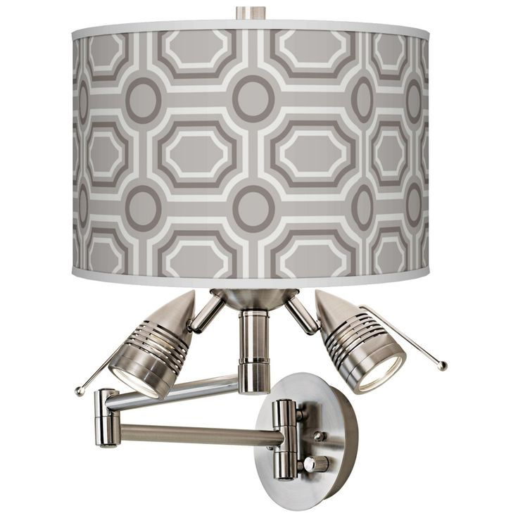 Luxe Tile Giclee Swing Arm Wall Light - Style # 80379-2V526