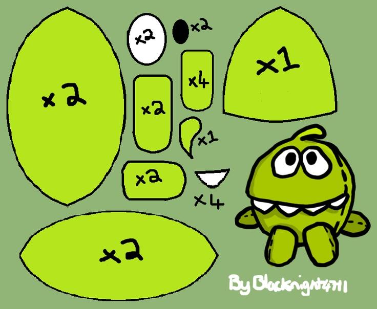 Om nom nom! (plush pattern) by Blacknight4711.deviantart.com on @deviantART