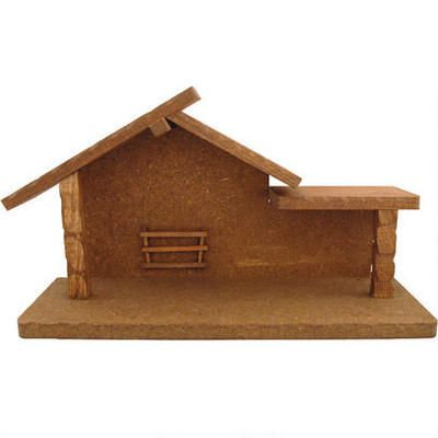 Hand Crafted Wooden Nativity Stable With Trough - Stables - Nativity Scenes - bronners - Categories - Bronner's CHRISTmas Wonderland