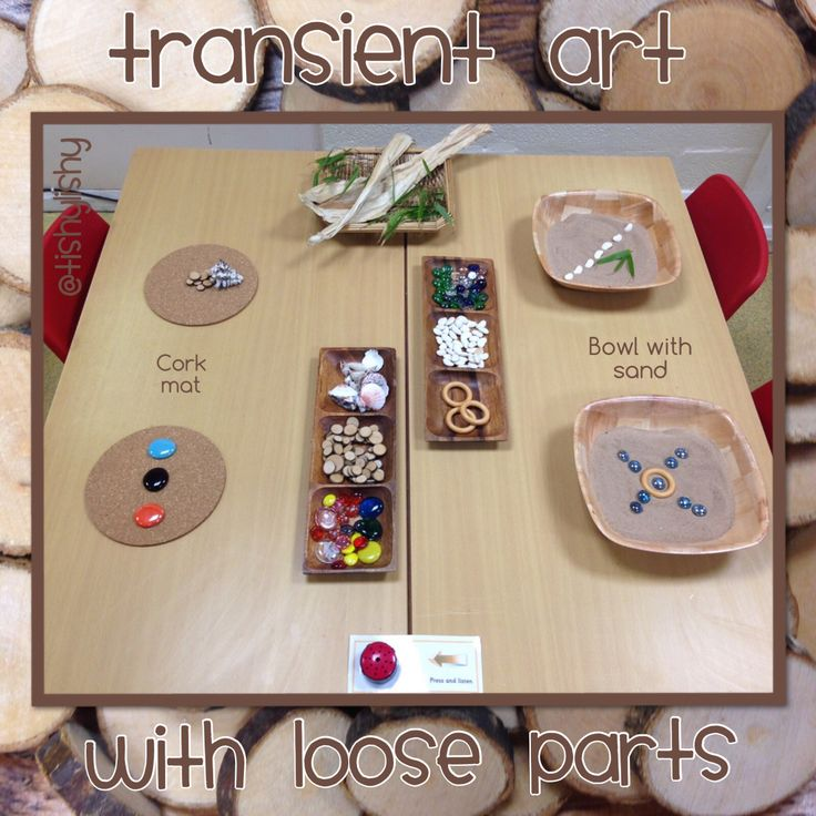 Transient art with loose parts