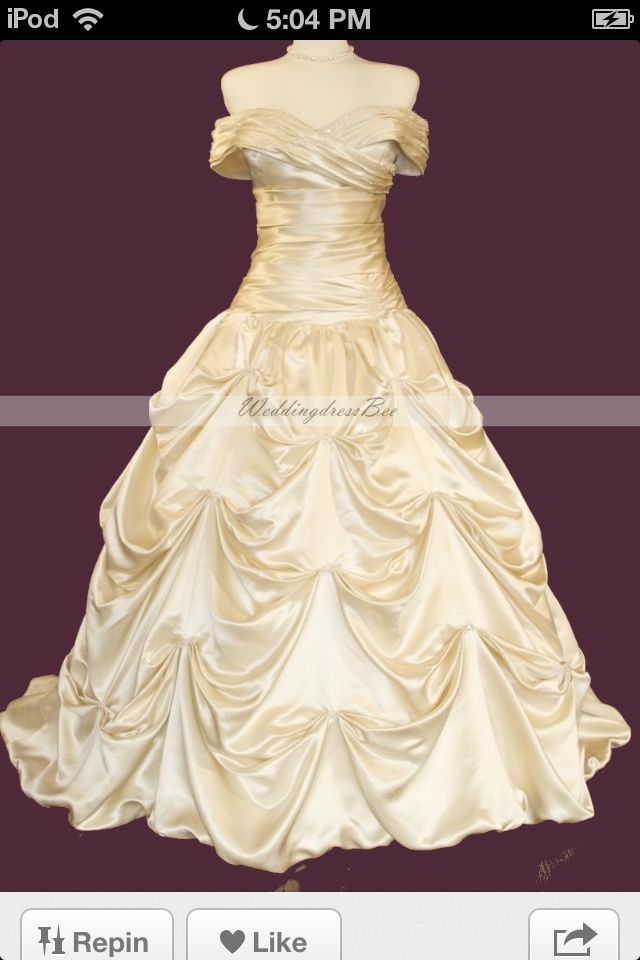 Belle wedding dress (beauty and the beast) - Gorgeous - need it to cover my shoulders a little more...