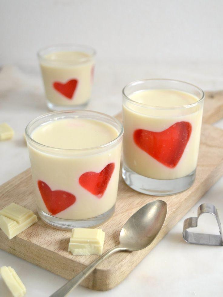 Panna cotta de chocolate con corazones. Una deliciosa receta de San Valentín con paso a paso y vídeo