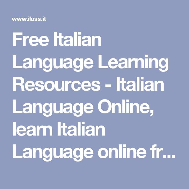Learn Italian online with six levels of free Italian exercises