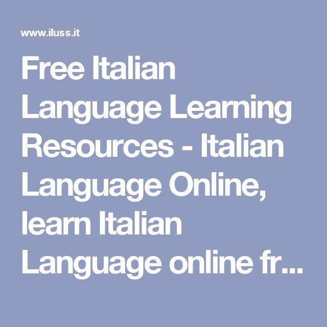Free Italian Language Learning Resources - Italian Language Online, learn Italian Language online free, Italian courses online, Italian language online test