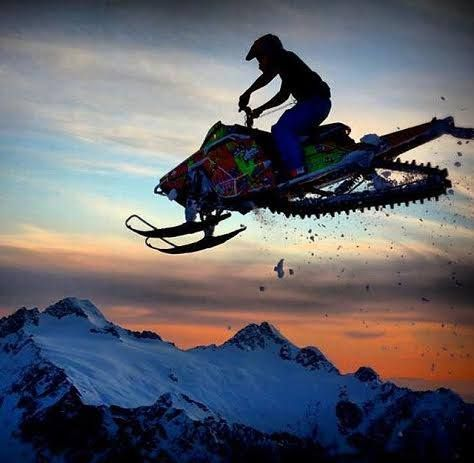 Best Fun Stuff Images On Pinterest Snowmobiles Sled And - This is what happens when you fly a snowmobile off a cliff