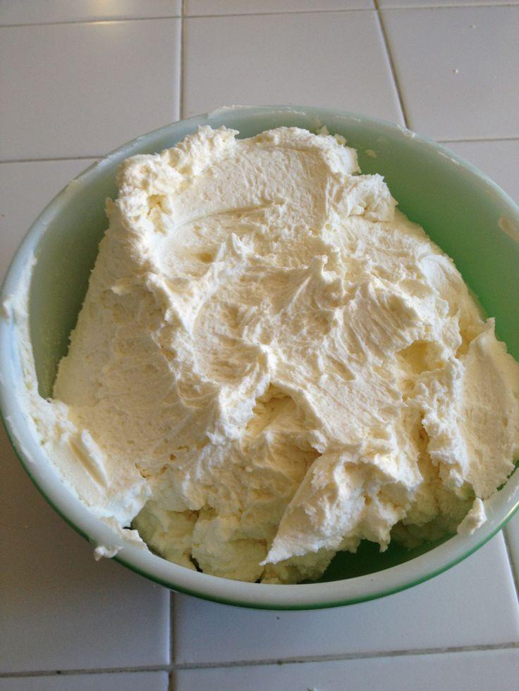 Homemade Canoli Cake Mascarpone Cheese
