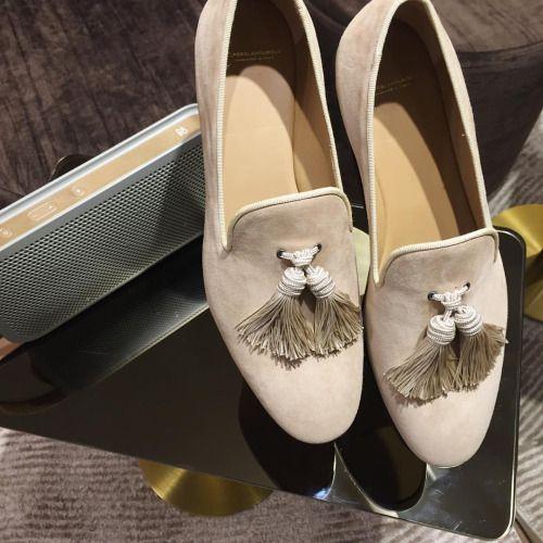 Louis Velukid beige slippers