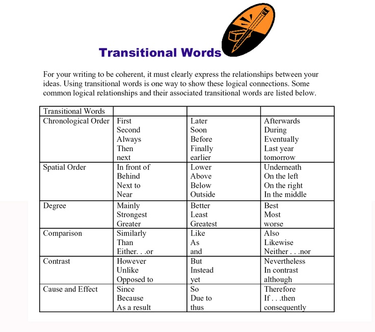 Transition words to use in essay writing    Science Writing Resources   The University of British Columbia