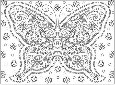 10 Adult Coloring Books Pages Mehndi Designs Colouring Book