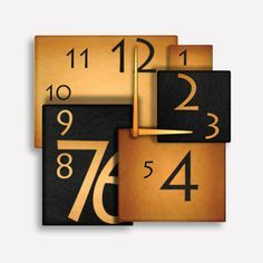 Squares Modern Wall Clock Design by walldecoration on Etsy, $30.00