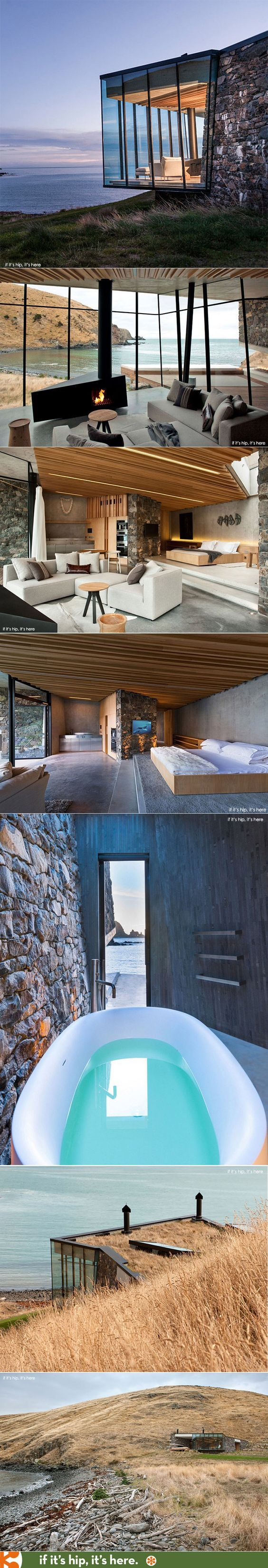 Sexy, Secluded, Seascape Retreat in New Zealand | http://www.ifitshipitshere.com/seascape-retreat-in-new-zealand/: