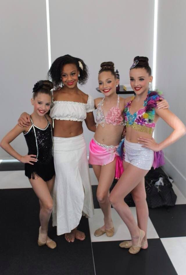 Dance moms girls in costumes for the Abby Lee Annual Dance Concert