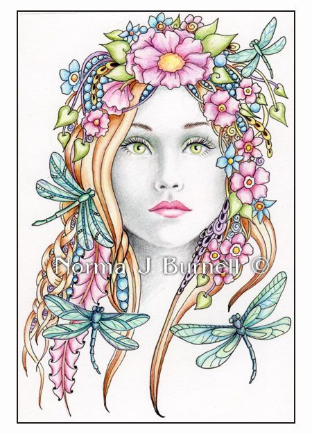 Norma J Burnell Google Search Fairy Coloring Pages