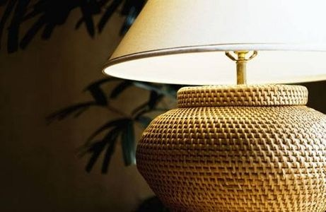 How to clean a fabric lampshade.