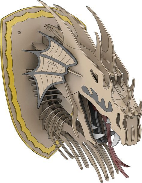 On Sale Now!    Trophy Faux Dragon Head   Ready to cut downloadable Patterns and Projects for your CNC Router, Milling Machine, Plasma Cutter or Laser Machine and Scroll Saw in both Imperial Inch format as well as Metric size for the Global CNC Hobbyist.   A makeCNC Original 3D Puzzle    Taxidermy is a trend right now! But if you are like us, you aren't so excited about the real thing. We prefer the faux version – even to go so far as those made on CNC Routers, La...