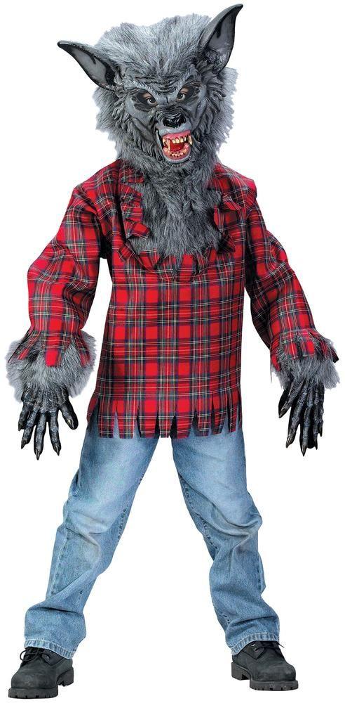 grey werewolf boys costume - Halloween Children Costumes