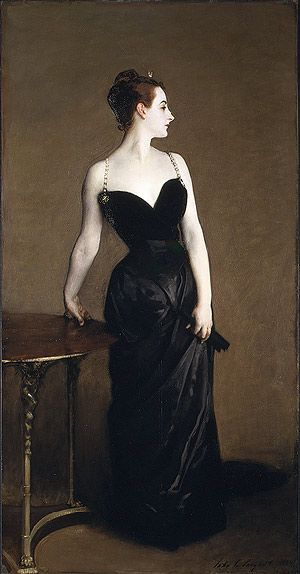 "John Singer Sargent's ""Mme. X"" Great dress"