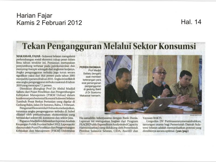 Press Conference Peluncuran PEA Sulsel, Februari 2012