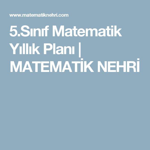 5.Sınıf Matematik Yıllık Planı | MATEMATİK NEHRİ