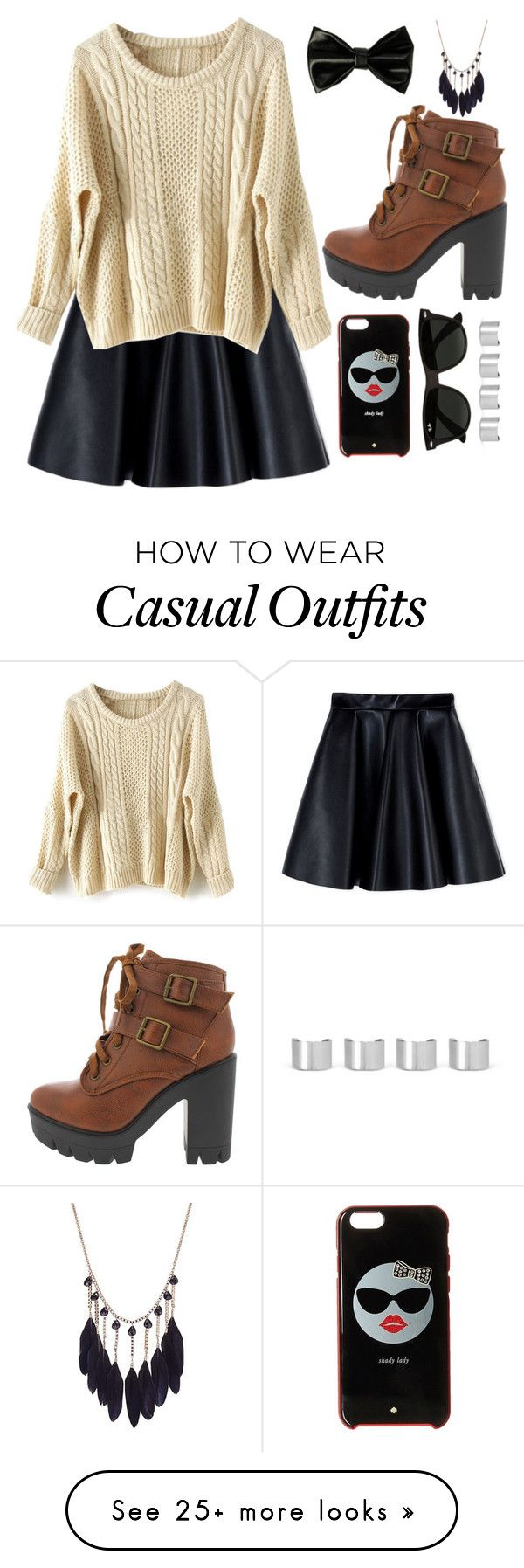 """Casual"" by chap15906248 on Polyvore featuring MSGM, Kate Spade, Ray-Ban and Maison Margiela"