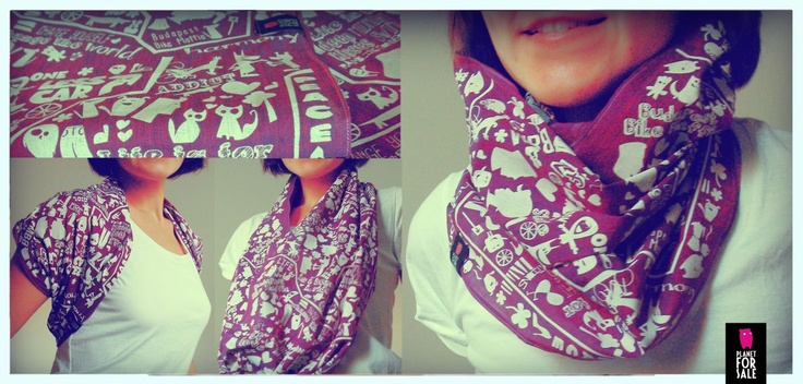 Infinity scarf - wear it as you like  facebook.com/planetforsale
