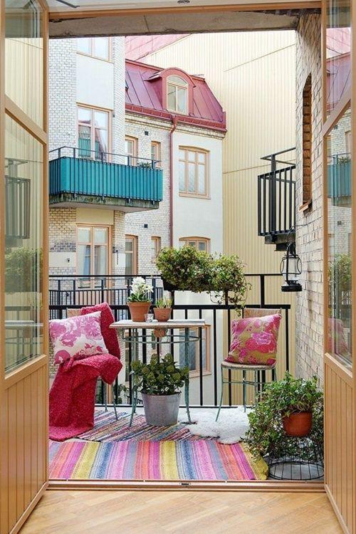 balkongestaltung bewohnlich entwerfen idee bequem