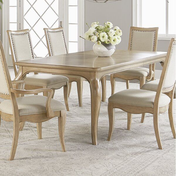 One Allium Way Althoff Extendable Solid Wood Dining Table Wayfair Dining Table In Kitchen Dining Room French Dining Table