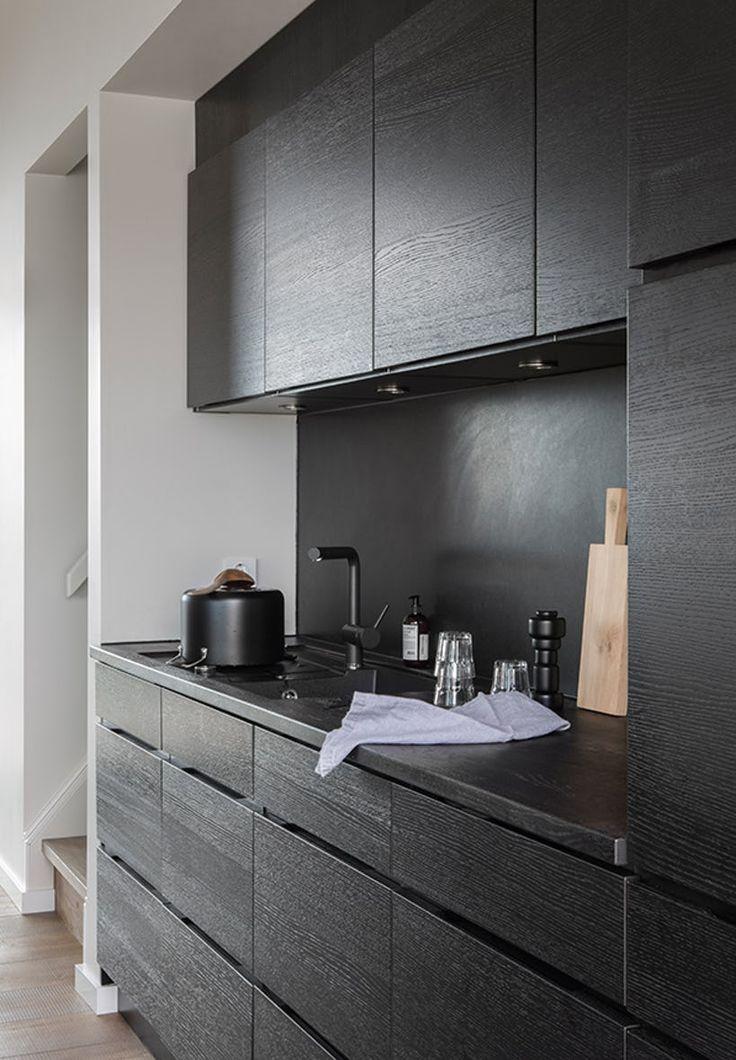 sort moderne køkken