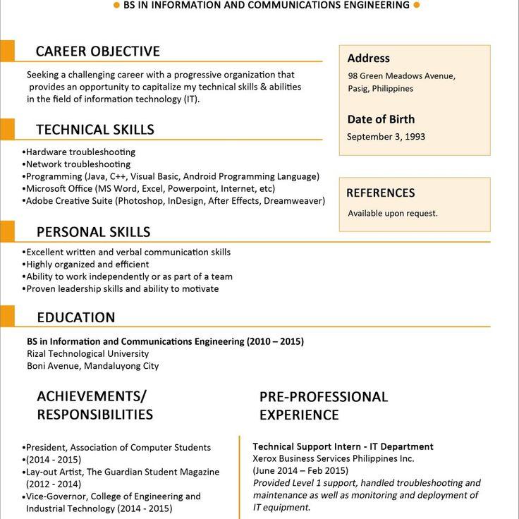 Resume Templates Jobstreet #jobstreet #resume