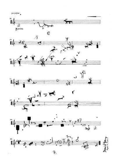 A selection of graphic scores from Theresa Sauer's book 'Notations 21'