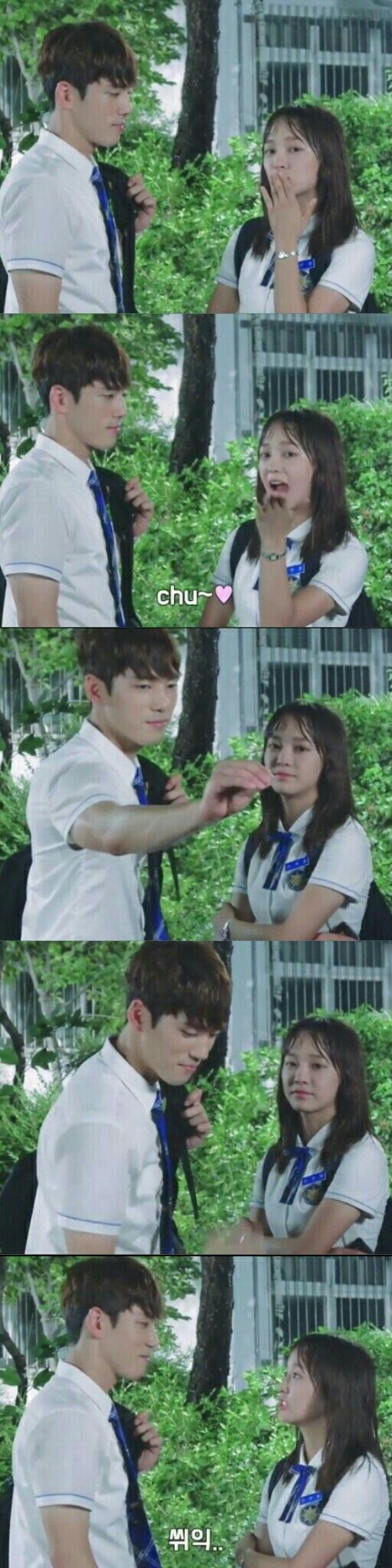 Sweetness of Kim Se Jeaong and Kim jung Hyun in School 2017 BTS