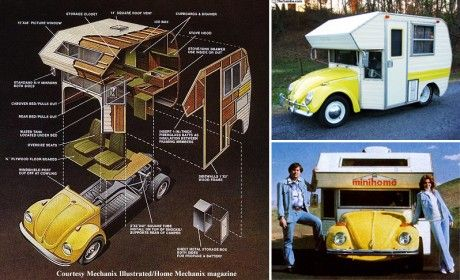 """Lil' Bugger"" minihome. Diy plans for a mini vw camper.Campers Vanities, Vw Campers, Diy Camps, Kool Stuff, Camps Life, Custom Vw, Vw Beetles Campers, Classic Vw, Vintage Campers"
